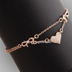 18K Rose Gold GP Swarovski Crystal Heart Charm Fashion Jewelry Love Bracelet #bracelet #swarovski #jewelry #fashionjewelry #charms #fashionaccesories  #jewelrygold Check our site for other amazing piece of jewelry: http://beauty.jewelry/