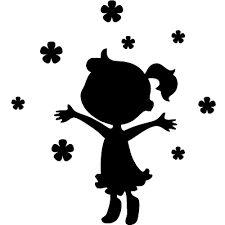 Resultado de imagen de siluetas en negro infantiles
