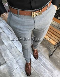 Michail score slim fit gri renk erkek kumaş pantolon is part of Stylish mens outfits - New Mens Fashion Trends, Trendy Mens Fashion, Mens Fashion Wear, Stylish Mens Outfits, African Men Fashion, Casual Outfits, Men Casual, Formal Men Outfit, Dapper Men