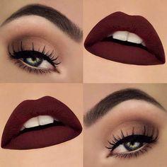 Maroon χείλη και απαλά μάτια: Μια από τις κορυφαίες τάσεις της εποχής ||AllAboutBeauty