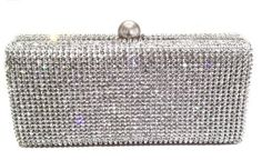 Dazzling Crystal Pave in Silver Base Evening Clutch with Detachable Chain CB Accessories,  http://www.amazon.com/Dazzling-Evening-Crystal-Handbag-Detachable/dp/B00A9LSOVC/