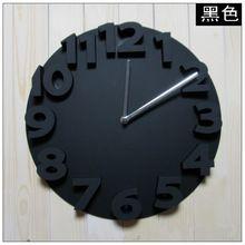 Réel 3D Ronde Horloge Murale Silencieux Numérique Mur Montres Numérique Horloge…