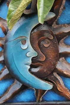 On my garden wall ~ Brother Sun and Sister Moon ~