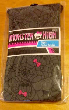 Monster High Girls Tights Fits Ages 7 to 10 New   eBay