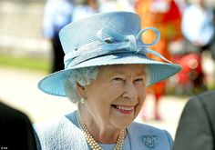 Looking good: The Queen, fresh from her successful state visit to France, wore a beautiful powder blue Angela Kelly coat dress and a matchin...