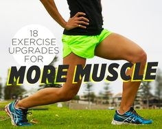 18 Exercise Upgrades for More Muscle I really need this right now. 18 Exercise Upgrades for More Muscle Fitness Tips For Women, Womens Health Magazine, Excercise, Exercise Moves, Get In Shape, Health Fitness, Women's Health, Health Tips, Strength Training