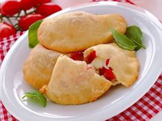 Panzerotti w/ Tomato and Mozzarella Cheese