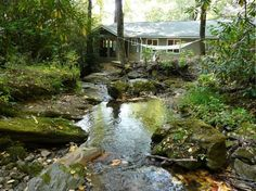 Franklin Vacation Rental - VRBO 247632 - 2 BR Smoky Mountains Cabin in NC, Rushing Stream Wraps Around Newly Renovated Cabin on 5 Acres