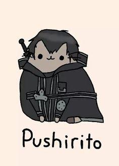 Kirito pusheen cat
