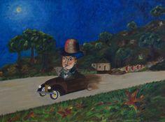 Ao volante do Chevrolet pela estrada de Sintra