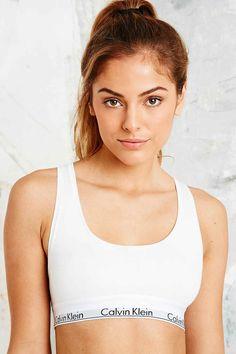 cb9056f76c321 Calvin Klein - Haut court blanc Calvin Klein Crop Top