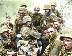 Tired SS troops somewhere in Russia