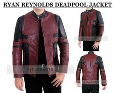 Ryan Reynolds Deadpool Jacket for sale at discounted price at our online store fit jackets!!  #Deadpool #RyanReynolds #Cosplay #geektyrant #geek #geekcheezburger #cheezburger #Celebrity #Sexy #Hot #Stylish #Sale #Fashion #Shopping #MensFashion #MensWear #StyleMens #MensOutfit
