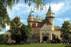 """The gem of Bojnice is the """"fairy-tale"""" Bojnický zámok Castle, one of the most visited and most beautiful castles not only in Slovakia, but also in central Europe. Beautiful Castles, Most Beautiful, Beautiful Places, Heart Of Europe, Romantic Images, International Festival, Fairytale Castle, Medieval Castle, Central Europe"""
