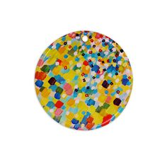 """Ebi Emporium """"Swept Away"""" Ceramic Circle Ornament"""
