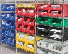 Use AkroBins along with Wire Shelving from Akro-Mils to organize your medical supplies! #medical #5S Lean #hospital