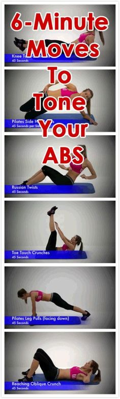 Do you want a toned, flat stomach? Try out these 6 simple yet effective exercises to tone your belly fat and improve your core strength. Exercise 1: Knee Tuck Crunches (45 Seconds): Exercise 2: Pilates Side Hip Raises (45 Seconds per Side): Exercise 3: Russian Twists (45 Seconds): Exercise 4: Toe Touch Crunches (45 Seconds): Exercise 5: Pilates Leg Pulls (facing down) (45 Seconds): Exercise 6: Reaching Oblique Crunch (45 Seconds):