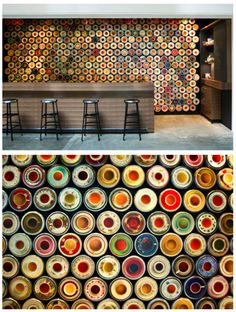 """I also like the idea of a """"statement"""" wall. Could be tiled apples & oranges?"""
