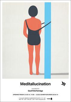 """Juxtapoz Magazine - Preview: Geoff McFetridge """"MEDITALLUCINATION"""" @ V1 Gallery, Copenhagen"""