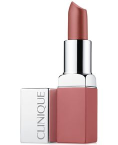 Clinique Pop Matte Lip Colour + Primer in Mod Pop. A dramatic pop of pink matte colour + primer in one, full-coverage coat. Clinique Cosmetics, Clinique Pop, Clinique Makeup, Lip Makeup, Beauty Makeup, Drugstore Beauty, Matte Lip Color, Lip Colour, Beleza