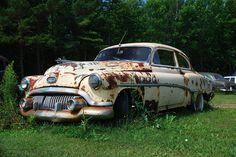 #Buick turning back to earth. #RustinPeace #Junkyard