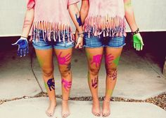 Have a paint fight :) with my besties