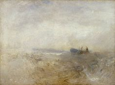 Joseph Mallord William Turner 'A Wreck, with Fishing Boats', Joseph Mallord William Turner, Turner Watercolors, Turner Painting, Watercolor Landscape Paintings, Abstract Landscape, Oil Paintings, Abstract Art, Seascape Art, English Artists
