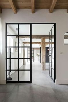 A door is an important and the first part of a house. There is usually one main door in a house and the rest of the doors are for the rooms. Doors are important for the security of any house. Style At Home, Interior Architecture, Interior And Exterior, Windows Architecture, Industrial Door, Industrial Style, Industrial Design, Industrial Bookshelf, Industrial Apartment
