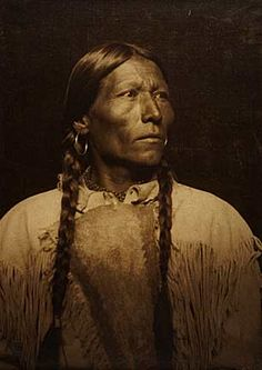 Native American man. {Look at how beautiful & proud a people they were...we stole that from them, and we will all be damned for it.
