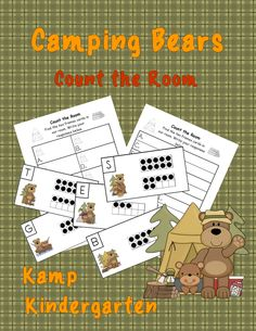 Camping Bears Count the Room (Quantities to 20)  $   #camping  #countingandcardinality  #numerals  #KampKindergarten   http://www.teacherspayteachers.com/Product/Camping-Bears-Count-the-Room-Quantities-to-20-1388178
