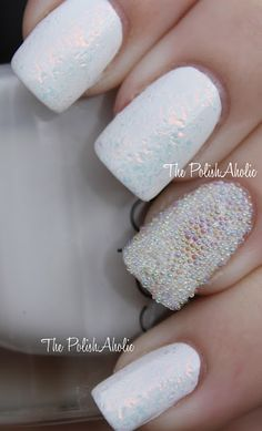 microbeads on one nail