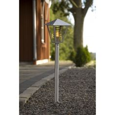 Gravel looks really neat in gardens, and is an easy place to fit lighting in to