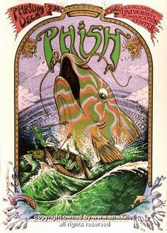 1995 Phish Silkscreen Concert Poster by Emek at JoJo's Posters