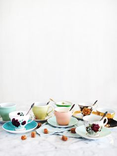 Perfect imperfection - mismatched Tea Cups and Saucers
