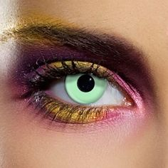 Eyefusion 90 Day Witches Eyes Colored Contact Lenses (Green)