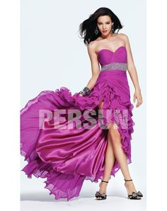 Wedding Dresses, Bridesmaid Dresses, Prom Dresses and Bridal Dresses Faviana In Stock Prom Dress - Style 6941 - Faviana Prom Dresses, Spring Strapless chiffon gown with high low skirt, beaded belt and sweetheart neckline. High Low Chiffon Dress, High Low Prom Dresses, Cheap Prom Dresses, Homecoming Dresses, Bridal Dresses, Strapless Dress Formal, Bridesmaid Dresses, Formal Dresses, Dress Prom
