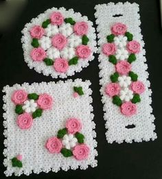 This Pin was discovered by Emi Doily Patterns, Baby Knitting Patterns, Crochet Patterns, Crochet Table Mat, Crochet Fashion, Table Covers, Needle And Thread, Crochet Doilies, Models
