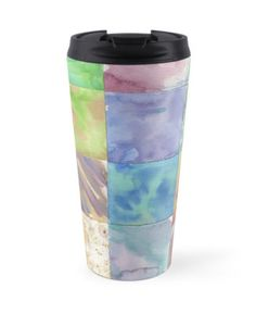 Watercolor Background travel mug by Ailan Olsen