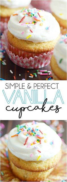 Classic Vanilla Cupcakes From Scratch