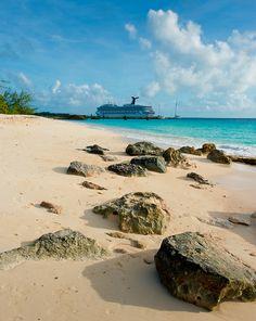 Fun ship, fun island. (Grand Turk: Turks and Caicos)