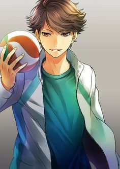 Tōru Oikawa is a 3rd year student from Aobajousai High. He is the captain of Seijou's volleyball team and is widely regarded as the ace setter.