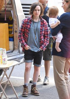 Overjoyed: Ellen Page (pictured on the New York City set of Tallulah on Thursday) spoke with Entertainment Weekly about the joys of filming gay-rights picture Freeheld