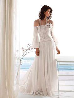 Abiti da sposa Le Spose di Giò 2017 - Vestito plissè in chiffon
