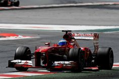 Fernando Alonso dominating the Spanish Grand Prix., 2013.