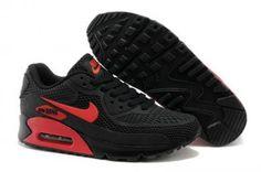 Nike Air Max 90 KTPU Correr negro / rojo http://www.esnikerun.com/
