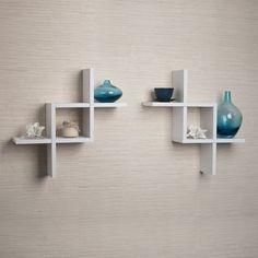 Set of 2 Reversed Criss Cross White Shelves Danya B http://www.amazon.com/dp/B00KQT9N3K/ref=cm_sw_r_pi_dp_Zamaub171F544