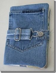 IPad or Kindle Cover made from old denim.  Outside pocket for earbuds & charger.