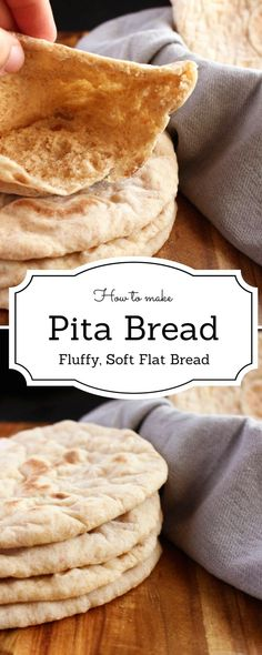 Pita bread is extremely common in the Middle East. It is one of the most versatile things to have in your kitchen. The key to making an ideal pita bre. Easy Bread Recipes, Cooking Recipes, Pita Bread Recipes, Homemade Pita Bread, Vegan Pita Bread Recipe, Homemade Flatbreads, Roti Recipe, Homemade Rolls, Cupcake