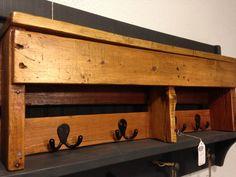 Pallet coat rack/shelf