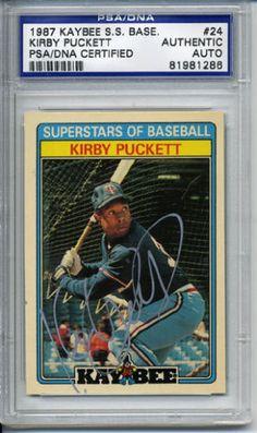 KIRBY-PUCKETT-SIGNED-1987-KAYBEE-SUPERSTARS-24-AUTOGRAPHED-PSA-DNA-81981286 #kirbypuckett #puckett #signedcard #autograph #1987 #superstars